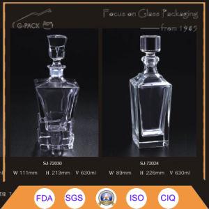 Bottiglia eccellente dei liquori di vetro di silice in 630ml con sughero
