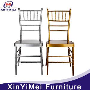 Empilage de résine d'aluminium métallique Hotel Restaurant mariage Chiavari Président (XYM-ZJ02)