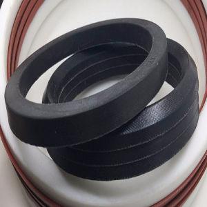 Tipo di gomma guarnizione delle guarnizioni di forma di v del panno di FKM J del tessuto