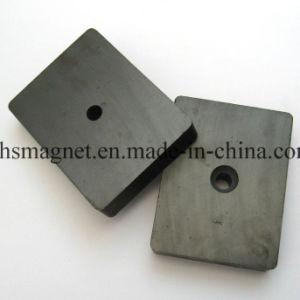 Постоянный жесткий ферритовый керамический блок магнит с отверстием