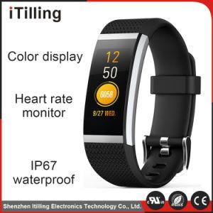 2018 Nueva llegada Impermeable IP67 Monitor de Ritmo Cardíaco pantalla Color Pulsera inteligente con la presión arterial Reloj inteligente