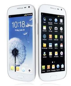 Grande ecrã táctil, telefone celular com tela de toque capacitivo 4.8INCH TV WiFi Bluetooth Câmaras dual MP3/MP4 T de rádio FM Slot de cartão duplo SIM(Dual Standby PDA I9300)