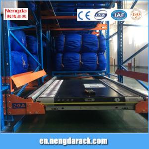 Rack de armazenamento de metal com rack de transporte para o depósito