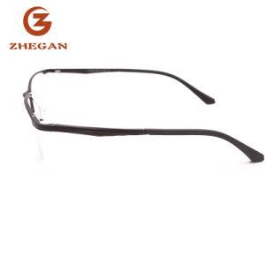 Het nieuwe Merk van de Glazen van het Metaal van de Rand van het Ontwerp Populaire Halve Dame Eyewear Eyeglass Women Optical Frame