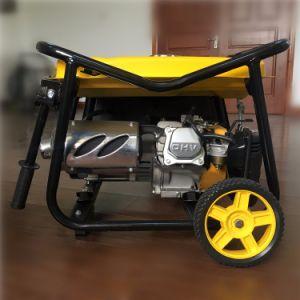 beweglicher Generator-kupferner Draht des Benzin-2kw mit v-Typen Rahmen und zwei Räder