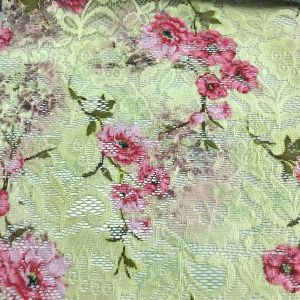 Impresión de flores de encaje bordado en Color y diseño