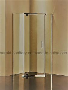 El pivote de la esquina de la Puerta de Bisagra de la cabina de ducha