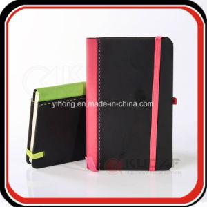 Coluna de tecido de cor PU Notebook com faixa elástica A5