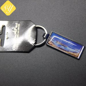 La fábrica de metal personalizados coche logotipo impreso imprimir fotos Llavero Proveedores