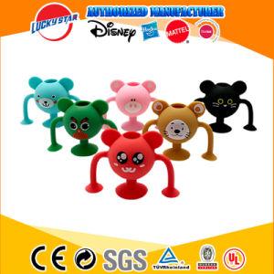 2020 Seguridad de Cartoon de la succión de silicona Sucker juguetes educativos Minifigure regalo de promoción