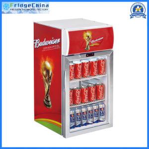 Mini porta de vidro em sua bancada Exibir Refrigerador de Bebidas