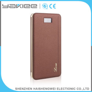 Pantalla LCD de 8000mAh de energía móvil de emergencia portátil cargador banco