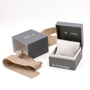 Artesanal de luxo elegante cor cinza da dobradiça plástica de jóias caixa de embalagem