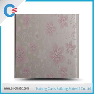 Panneau de plafond en PVC de conception de fleur plat panneau mural en PVC d'estampage à chaud