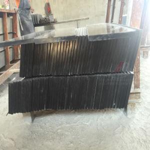 Il nero nero assoluto della Mongolia del granito per le mattonelle e le lastre