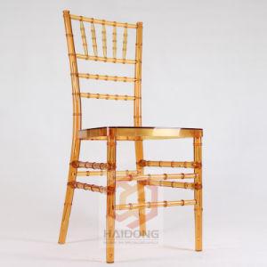 Venda por grosso de casamento no exterior do PC de plástico empilháveis Resina Acrílica Chiavari cadeiras