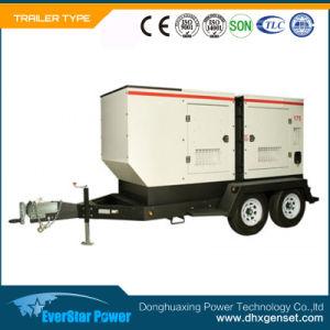 Diesel die van Genset van de Macht van de aanhangwagen de Mobiele Vastgestelde Elektro Draagbare Generator produceren