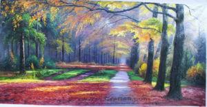 Olieverfschilderijen -017 van het landschap