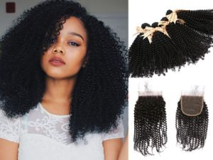 8Um Brasileiro Kinky Curl 100% virgem trama de cabelo preto natural por grosso