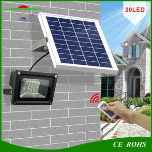 20LED Mando a distancia Farol Solar Jardín de Luz de emergencia exterior