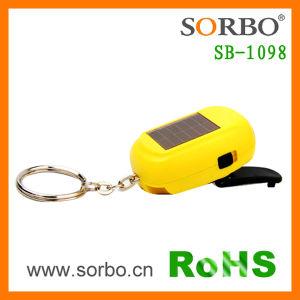 Mini-solaire & Dynamo Lampe de poche avec le trousseau