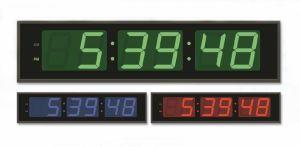 Eléctrica de gran tamaño 6 dígitos LED de 7 segmentos Reloj de pared