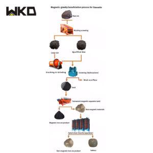 Schema di processo di separazione del minerale metallifero della limonite dell'Egitto per l'impianto minerario