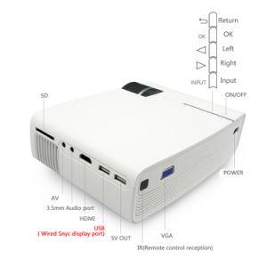 Yg400 Yg410 MiniProjector Getelegrafeerde Sync tonen Stabieler dan WiFi Beamer voor VGA USB van de Film AC3 HDMI van het Theater van het Huis