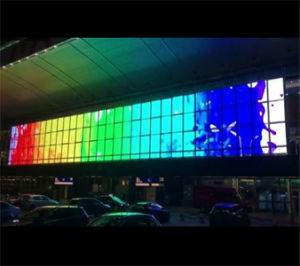 P25мм P31мм DIP Полноцветный Водонепроницаемый для использования вне помещений прозрачный сетчатый экран со светодиодной подсветкой