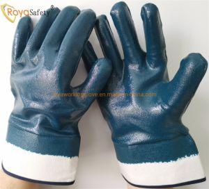 Хлопок Джерси перчатки нитриловые полностью покрыты Anti-Oil безопасность работы защитные перчатки стороны промышленные рабочие перчатки/рабочие перчатки для тяжелого режима работы