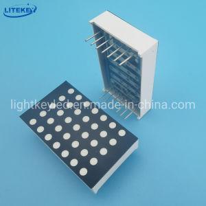 1,2 polegadas 5X7 DOT MATRIX LED com lacunas RoHS compatível da China Fabricante