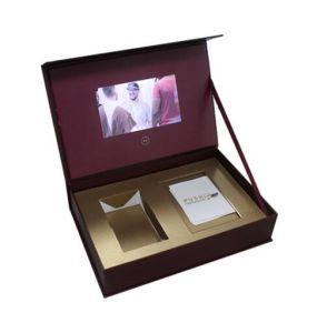 Het VideoVakje van het Leer van Pu voor Uitnodiging, Gift