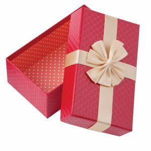 Y la tapa inferior de la caja de regalo con cinta de opciones