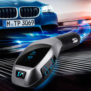 Manos Libres Bluetooth el transmisor de FM X5 Kit de coche reproductor de música MP3 Adaptador modulador de Radio funcionan con tarjeta TF para Smartphone