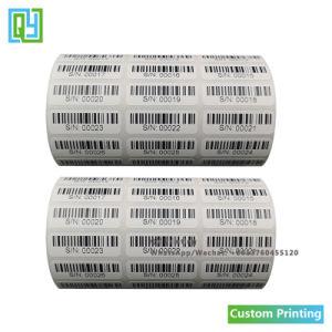 Custom печать штрих-код серийного номера кода QR бумажную наклейку этикеток