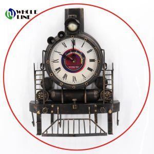 Tren de viejo estilo de decoración elegante reloj de cuarzo de locomotora Archaized