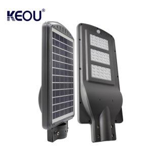 IP65力エネルギー庭のバッテリー・バックアップが付いている屋外の動きセンサーハウジングランプ60wattの太陽街灯