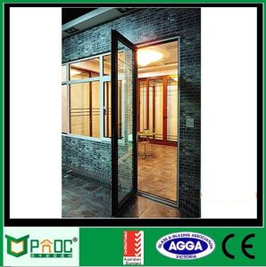 Portello del telaio della stoffa per tendine del doppio della fabbrica della Cina con vetro glassato
