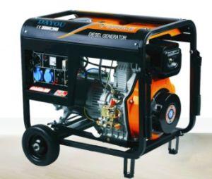 5,5 kw unique/trois phase générateur de disel portable de type ouvert