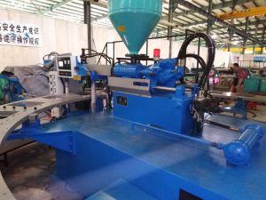 Автоматический поворотный выдувания воздуха машины литьевого формования для принятия решений сандалии опорной части юбки поршня в ПВХ материал