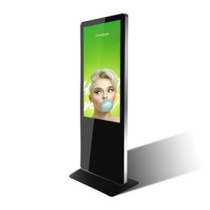 LCD 토템 49 상업적인 대화식 정보 문의처를 서 있는 50inch 지면