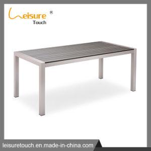 Patio-Aluminiumtisch-gesetzte Freizeit-Polyholz, das Stuhl-Garten-Möbel speist