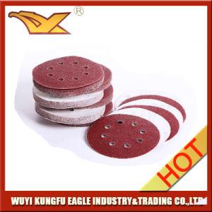5 pollici - disco di smeriglitatura del Velcro di alta qualità (ossido dell'allumina)