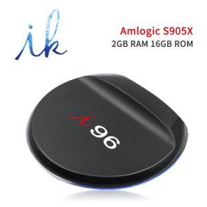 I96 Android 7.1.2 intelligenter Fernsehapparat-Kasten mit Amlogic S905X Vierradantriebwagen-Kern 2GB DDR3/16GB Emmc mit 4K 1080P HD, WiFi