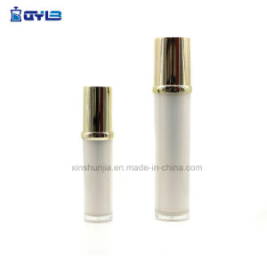 Diferentes Capacidades de moda Golden garrafas de plástico de acrílico