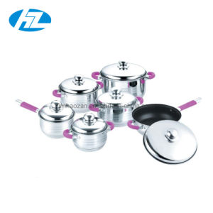 12PCS kokend Vastgesteld Roestvrij staal 201 van de Pot Cookware