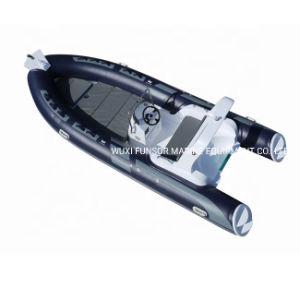 Hypalon nervure de luxe 520 aviron bateau gonflable en fibre de verre avec grande terrasse au soleil pour la vente