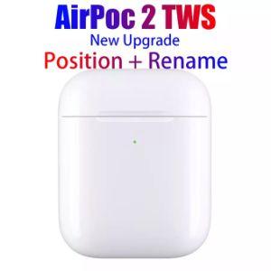 2019 Nouveau casque sans fil Airpods iPhone 2 avec étui de charge