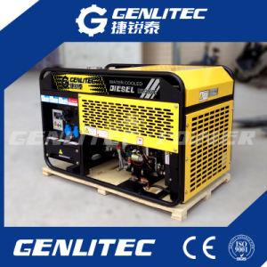 На открытой раме 3 этапа 10 ква портативный генератор Water-Cooled дизельного двигателя