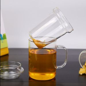 450mlホウケイ酸塩ガラスのハンドメイドのガラスティーカップ